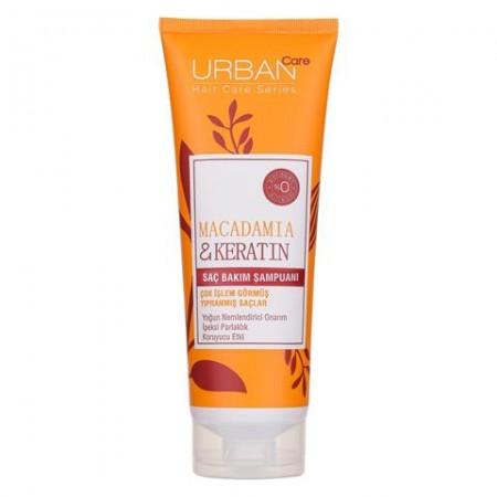 Urban Care Makademya Yağı & Keratin İçeren Yoğun Nemlendirici & Onarıcı Şampuan 250 ML