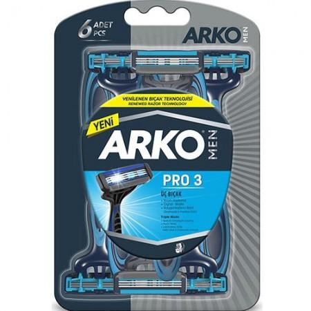 Arko Men Pro 3 Tıraş Bıçağı T3 6 Lı