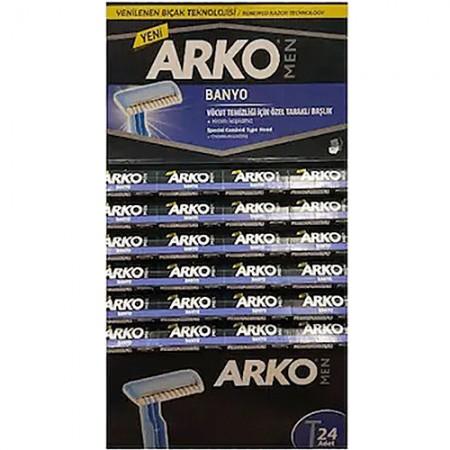 Arko Men Tıraş Bıçağı Kartela Banyo 24 Lü
