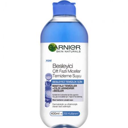 Garnier Çift Fazlı Micellar Mavi Makyaj Temizleme Suyu 400 ML