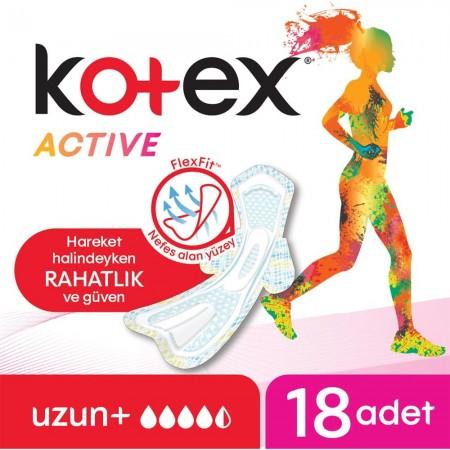 KOTEX ACTIVE 4LÜ UZUN 18Lİ