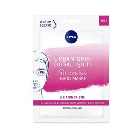 Nivea Urban Skin Doğal Işıltı 10 Dakika Kağıt Maske
