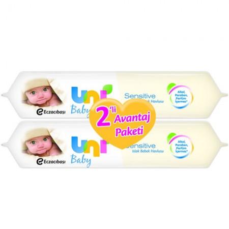 Uni Baby Sensitive Islak Havlu 56 Adet 2'li Avantaj Paketi