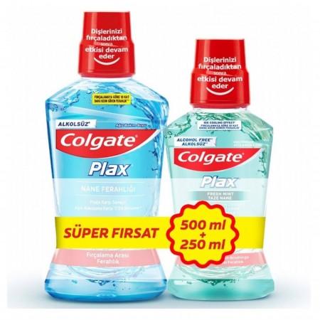 Colgate Ağız Bakım Suyu Nane 500 Ml + 250 Ml