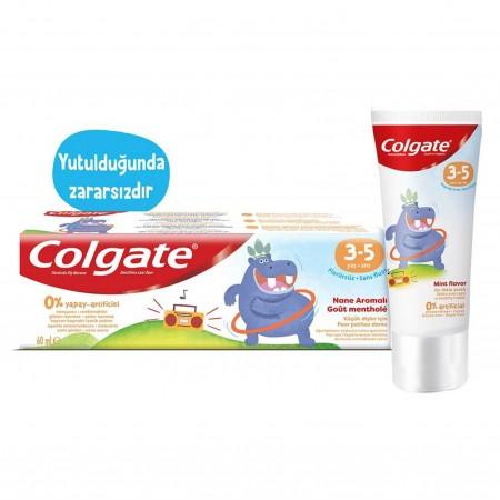 Colgate Diş Macunu Çocuk Florürsüz Naneli 3-5 Yaş 60 Ml