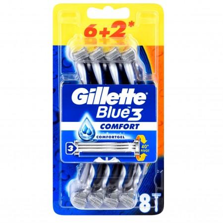 Gillette Blue3 Tıraş Bıçağı 6+2 Şampiyonlar Ligi Paketi