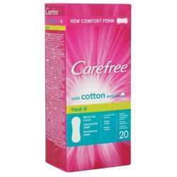 Carefree Cotton Hijyenik Ped Fresh 20li