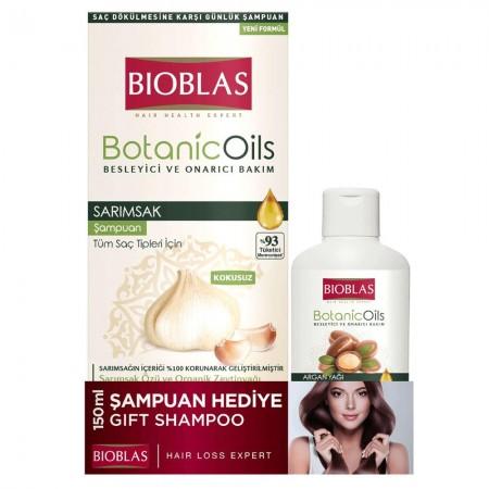 Bioblas Botanic Oils Sarımsak Şampuanı 360 ML + 150 ML Argan Şampuan