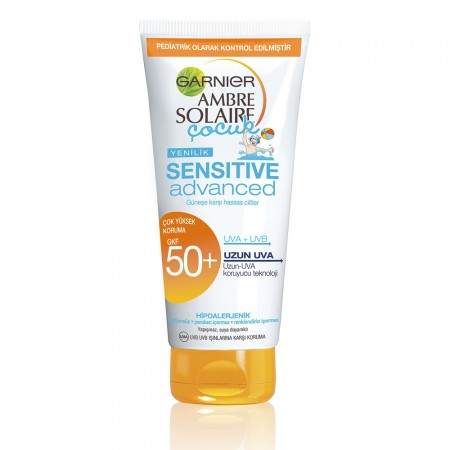 Garnier Ambre Solaire Sensitive Advanced Çocuk Süt GKF 50+ 200 ML