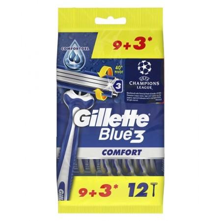 Gillette Blue3 Comfort Tıraş Bıçağı 9+3'lü Poşet