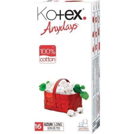 Kotex Anydays Günlük Ped Tekli Uzun 16 Lı