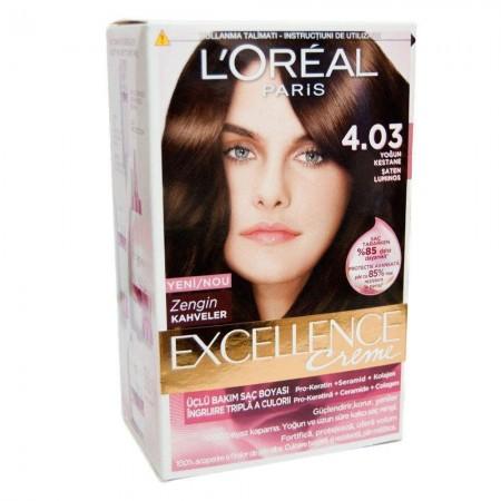 Loreal Excellence Saç Boyası 4.03 Yoğun Kestane