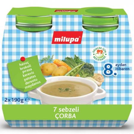 Milupa 7 Sebzeli Çorba 2 x 190gr