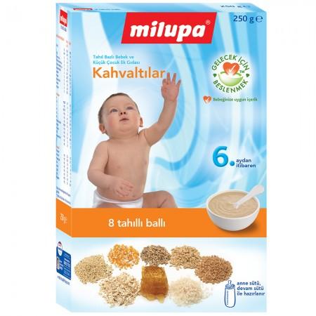 Milupa 8 Tahıllı Ve Ballı Kahvaltılık Kaşık Maması 250 gr