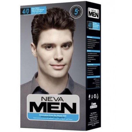 Neva Men Natural Saç Boyası Seti 4.0 Koyu Kahve