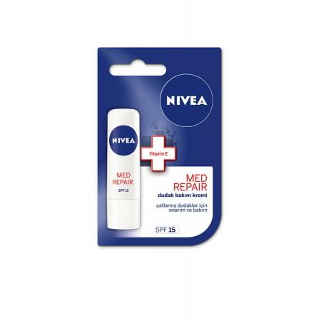 Nivea Lip Care Med Repair Onarıcı ve Besleyici Dudak Bakım Kremi 4,8 gr