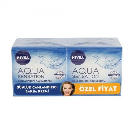 Nivea Visage Aqua Sensation Yüz Kremi 50ML 2 Li Paket