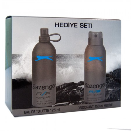 Slazenger Active Sport Mavi Erkek Parfüm Seti